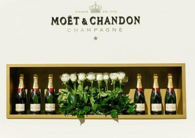 Moet et Chandon Champagne bottles