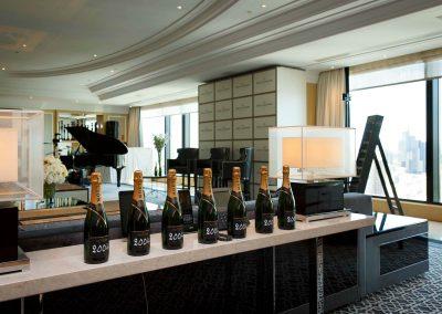 Bottle display Moet et Chandon Tribute to Roger Federer event