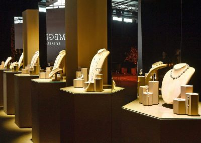 Pearl jewellery on display at the Paspaley Megisti Collection launch