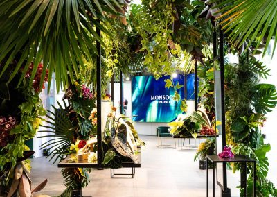 Interior plant and floral display at the Paspaley Monsoon Collection Launch