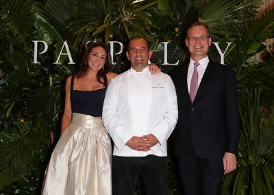 Christine Salter with Guillaume Brahimi at the Paspaley Monsoon Collection Launch