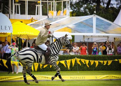 Polo player on horse Paspaley Polo in the City Series Australia