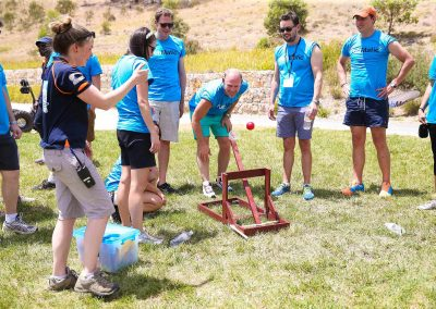 Guests playing game outdoors Pubmatic Ad Revenue Wolgan Valley Conference