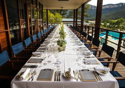 Outdoor table setting Pubmatic Ad Revenue Wolgan Valley Conference