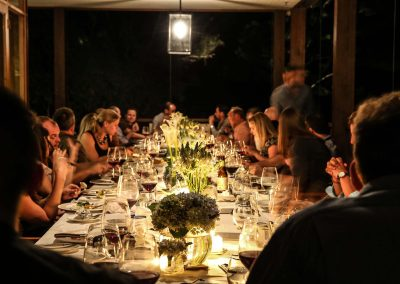 Guests at dinner table Pubmatic Ad Revenue Wolgan Valley Conference
