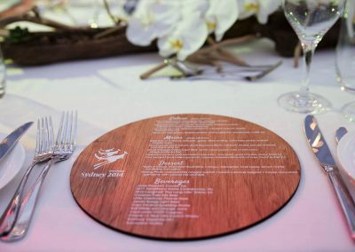 Menu table setting Schlumberger Annual International Conference