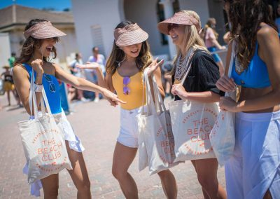 Guest with gift bags at the Seafolly Beach Club launch