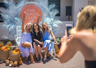 Guest having their photo taken at the Seafolly Beach Club launch