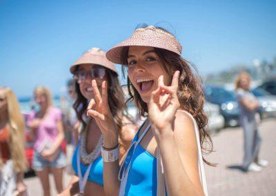 Happy staff at the Seafolly Beach Club launch
