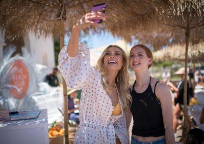 Taking a selfie at the Seafolly Beach Club launch