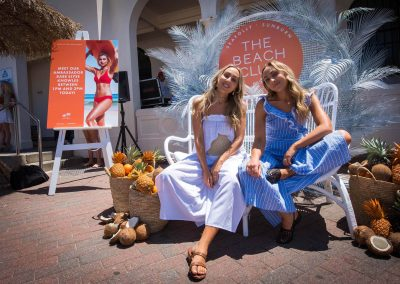 Guest relaxing at the Seafolly Beach Club launch