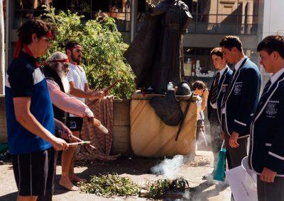 Aboriginal smoke ceremony St Ignatius College Riverview Valete Week