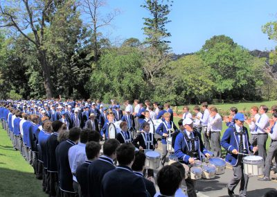 Guest watching marching band St Ignatius College Riverview Valete Week