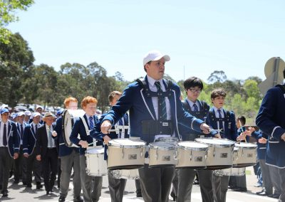 marching band St Ignatius College Riverview Valete Week