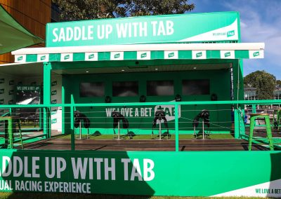 Pop up TAB Virtual Reality Activation - Saddle Up with TAB