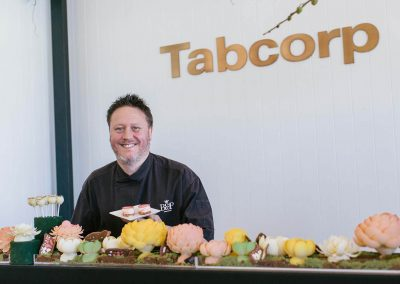 Pastry chef preparing food Tabcorp Birdcage Marquee Alfresco Cafe