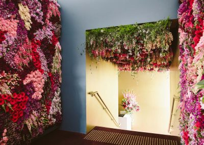 Venue entry flower walls Tabcorp Birdcage Marquee The Winning Moment