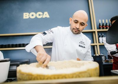 Chef preparing food Tabcorp Birdcage Marquee The Winning Moment