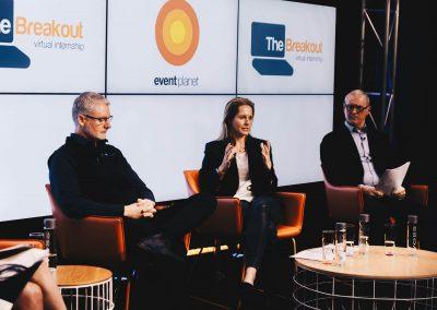 Speaker panel at The Breakout Virtual Internship