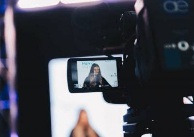 Camera display close up at The Breakout Virtual Internship virtual event