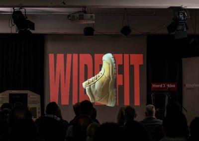 Screen presentation boots Workwear Industrial Brands Roadshow