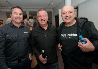 3 men smiling Workwear Industrial Brands Roadshow event