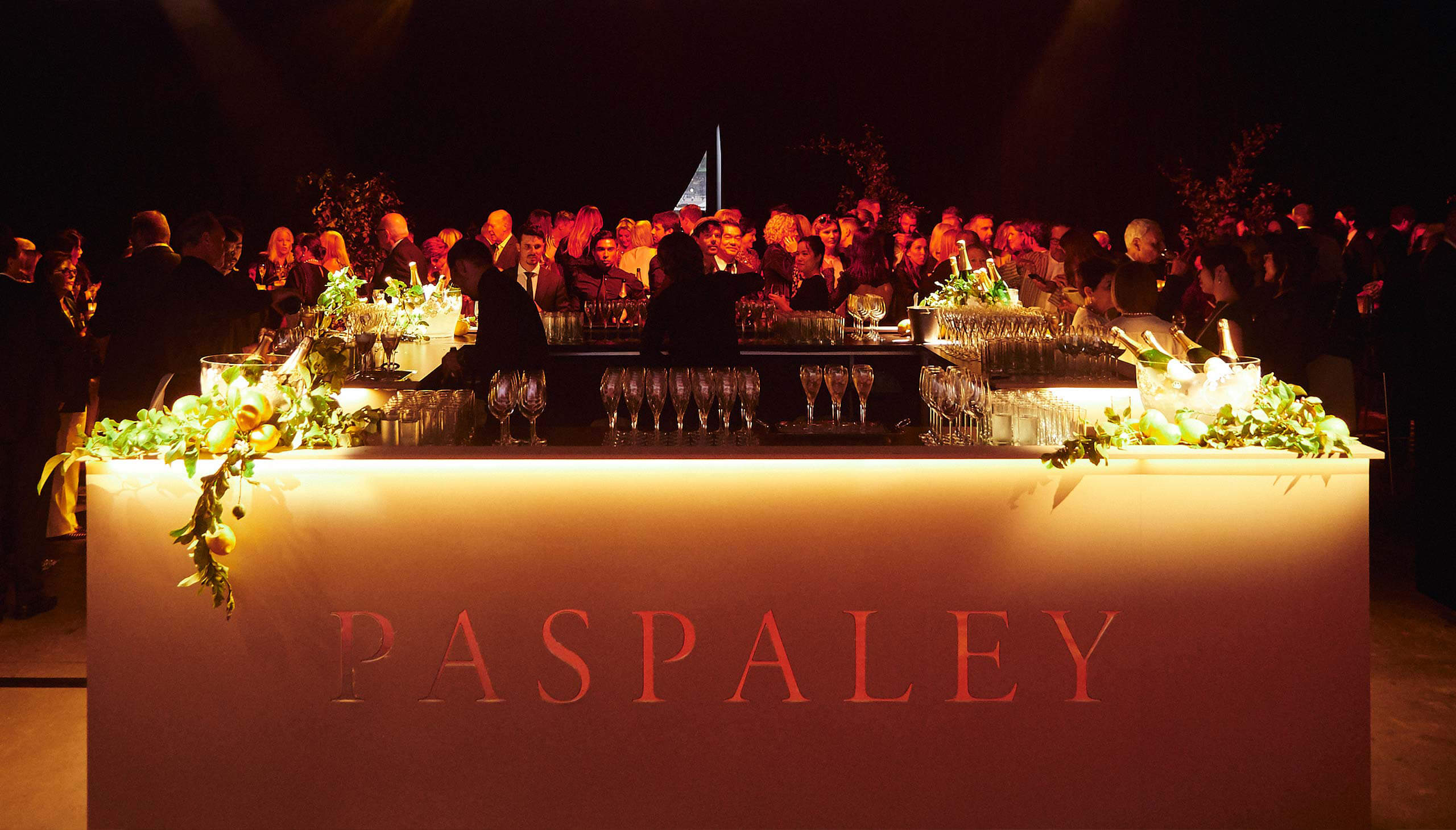 Decorated bar at Paspaley event