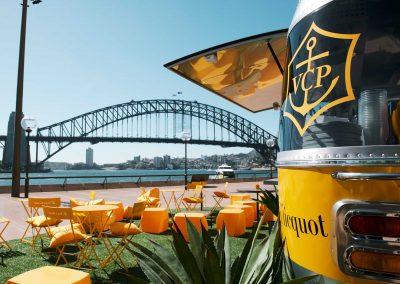 Veuve Clicquot pop up bar on Sydney Harbour