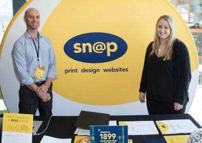 Welcome table at Snap Printing Vision Kick Off