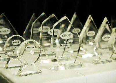 Trophy table at Snap Printing Vision Kick Off