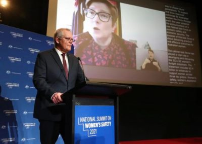 Senator Marise Payne and Prime Minister Scott Morrison at the National Summit on Women's Safety