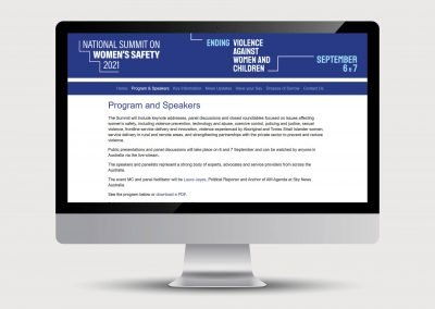 Speakers page National Summit on Women's Safety