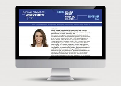 Laura Jayes Biography for the National Summit on Women's Safety