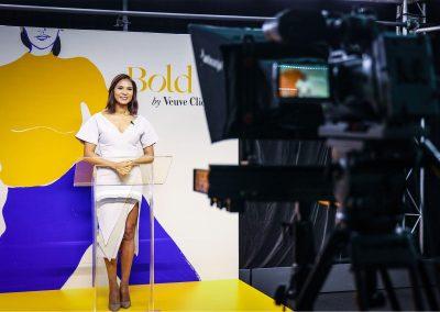 Presenter SBS World News host Janice Peterson at the Veuve Clicquot Bold Woman Award