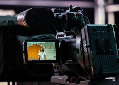 Camera set up at the Veuve Clicquot Bold Woman Award