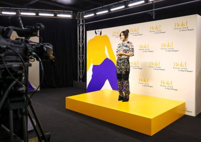 Rose Byrne presenting to a virtual audience at the Veuve Clicquot EP Agency Bold Woman Award